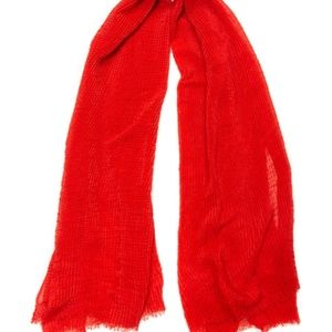 Red Textured Scarf